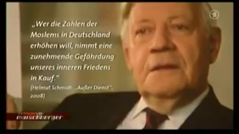 """Helmut Schmidt über """"Gastarbeiter"""" aus nicht kompatiblen Kulturkreisen"""