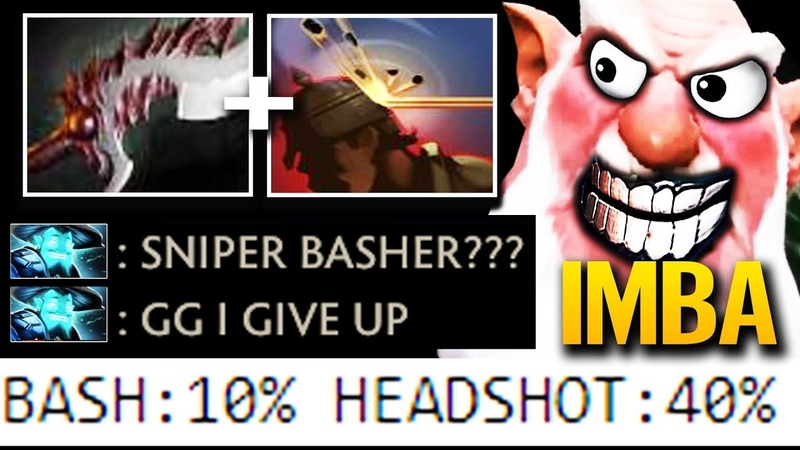 Basher Sniper Ranger NEW Tactic 96% Counter Storm Spirit Build Dota 2 by AdmiralBulldog