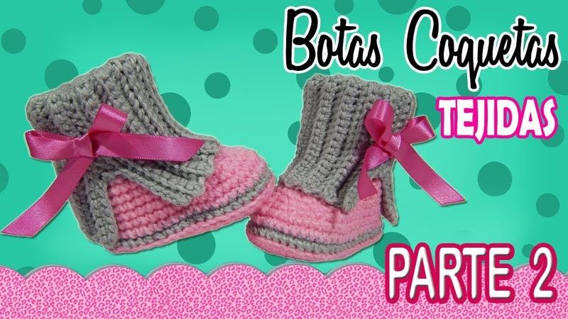 Botas coquetas para niña Tejidas a Crochet parte 2 2