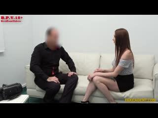 Mishelle Klein - Redhead loves to suck cock. Порно Кастинг Рыжие