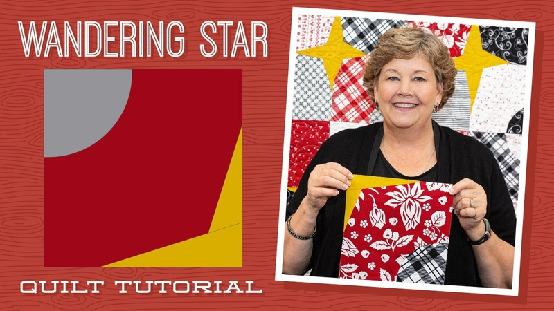 Make a Wandering Star Quilt with Jenny Doan of Missouri Star (Video tutorial)