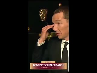 Benedict being thrilled and over the moon about winning a baftatv.