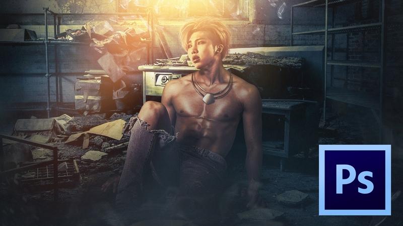 Rap Monster RM Mixtape Artwork Photoshop Speed Art Fan Art