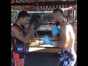 Firdavs Boynazarov training to fight Saenchai