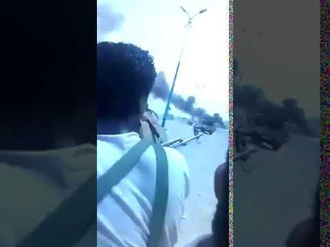 Последствия авиаудара по скоплению хадистов в Адене