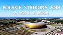 Polskie stadiony 2019 z lotu ptaka. Football stadiums in Poland. Drone Video