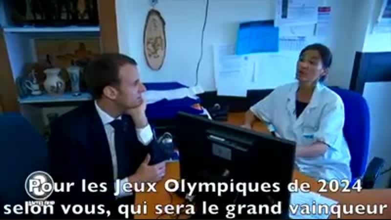 Macron à l'hôpital C'est à peine le reflet de la réalité... !! Demandez à Poutine ... !!