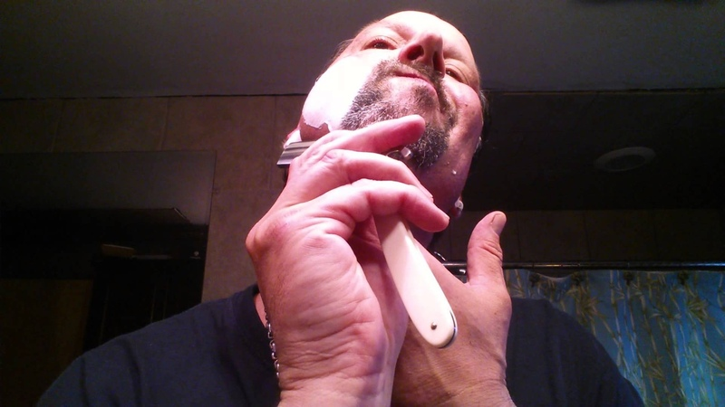 Straight Razor Shave 44 - Boker Silver Steel - Savile Row 3324 - Maggard's London Barbershop