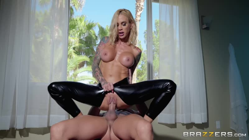 Brazzers Sarah Jessie Leather Lust 2018, MILF, Big Tits, Oil, Deep Throat, Face Fuck, Titfuck,
