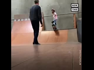 This video of tony hawk helping his daughter work through her nerves will give you all the feels