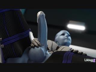 Mass effect - liara [futa,dickgirl,futanari,big tits,3d, porn,r34, cum]