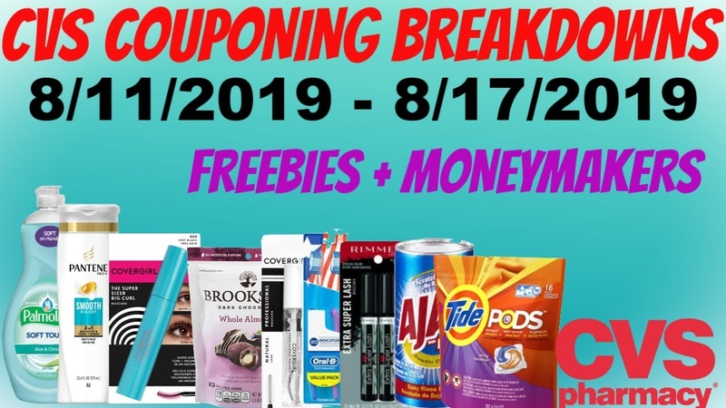 CVS COUPONING BREAKDOWNS 8 11 2019 8 17 2019 LOTS OF MONEYMAKER DEALS FREE MAKEUP MORE