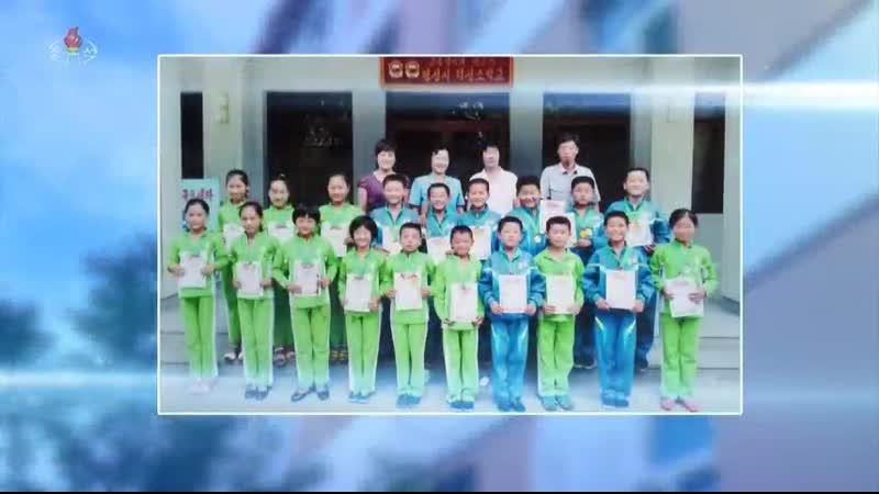 믿음직하게 자라는 해양국의 새세대들 -3중영예의 붉은기 평성교원대학부속 평성시 덕성소학교-