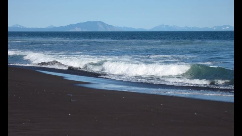 Волны Тихого океана Камчатка Халактырский пляж