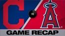 Lindor Santana homer to lift Indians Indians Angels Game Highlights 9 11 19