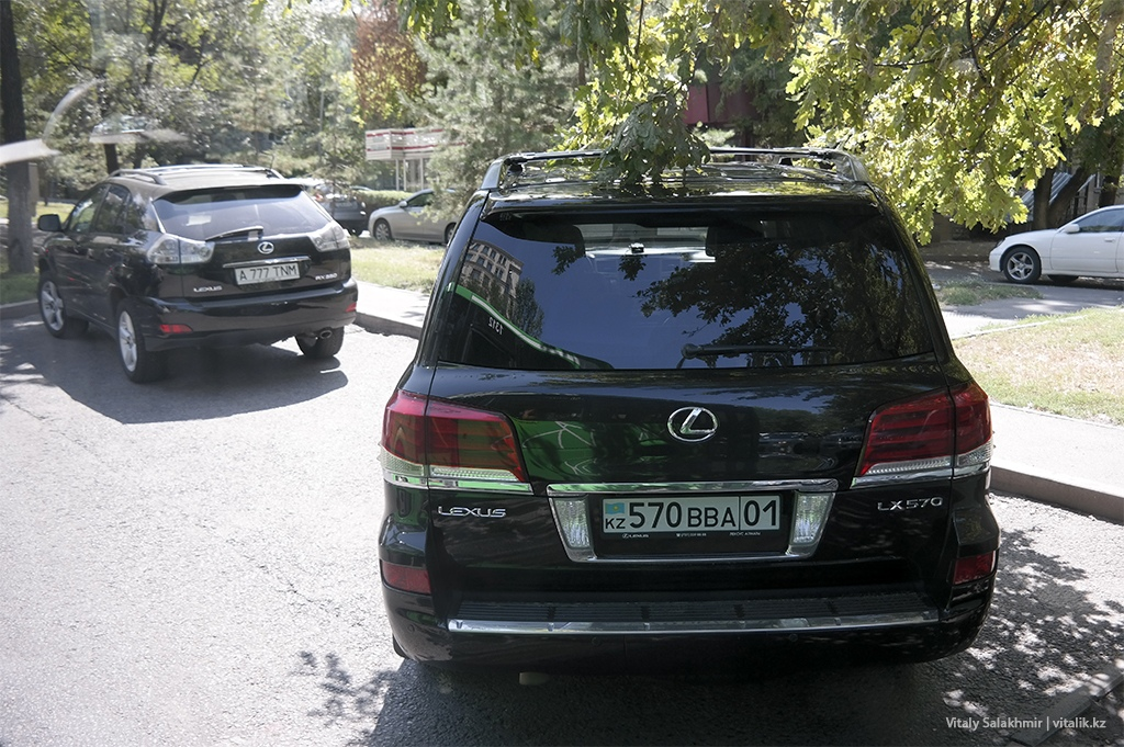 Лексус выше Аль-Фараби, Алматы 2019