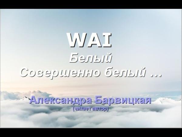 WAI Александра Барвицкая