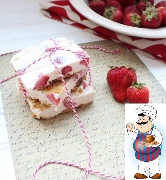 Летний замороженный чизкейк с клубникой