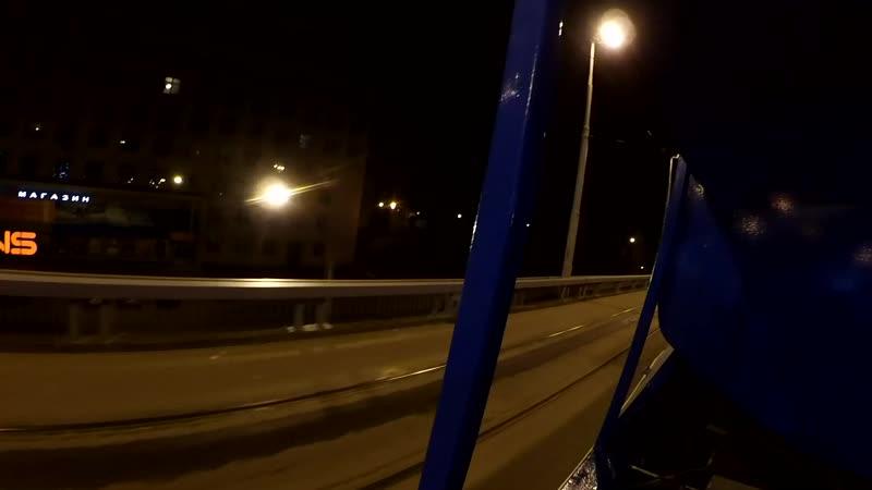 Ночная покатушка на поливомоечном трамвае КТМ-5 (ПМ-41)