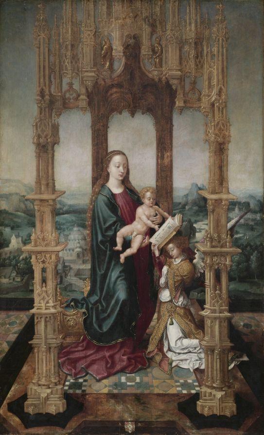 Дева и ребенок под навесом, 1520-е годы Южная Голландия.
