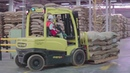 Copal Handling Systems - unloading jute bags with coffee beans at Nestlé Mexico