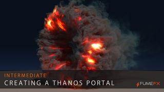 FumeFX Thanos Portal Tutorial