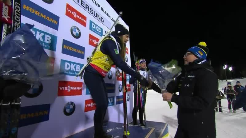 Женский спринтерский подиум в Эстерсунде