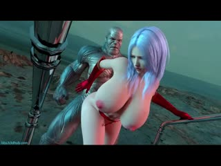 Thanos Fucks Captain Marvel - the Lust Avenger by Amusteven (3d Hentai)