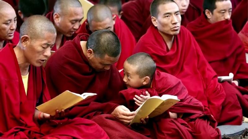 Поющие тибетские монахи Мощное очищение Горловое пениеvia