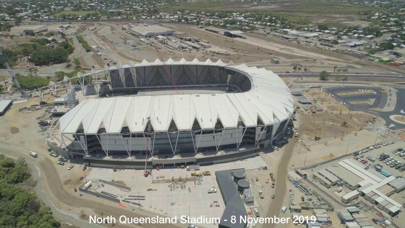 Строительство нового стадиона в г Таунсвилл Австралия 11 2019