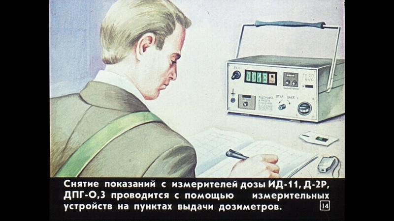 Диафильм Дозиметрический контроль