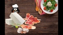 Schinken Feta Käse Röllchen in Knoblauch Chilli Öl Antipasti Rezept zum Grillen