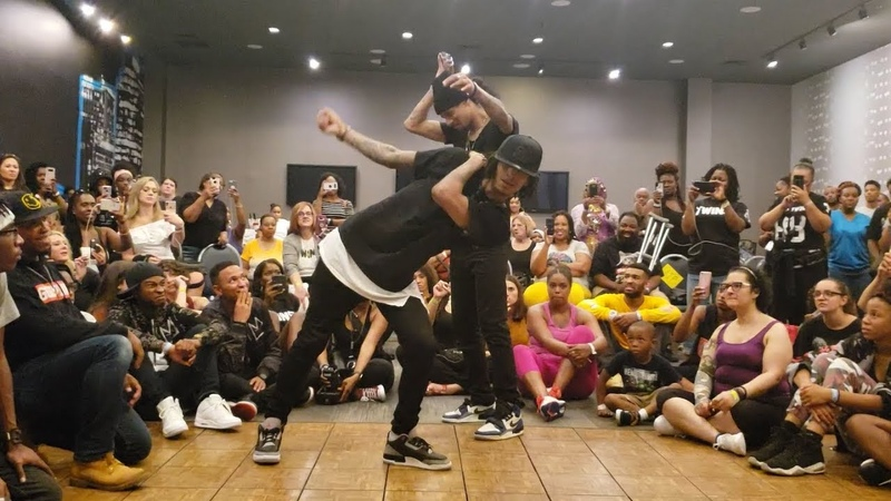 Les Twins Baltimore workshop 2019 Larry and Laurent cypher freestyles