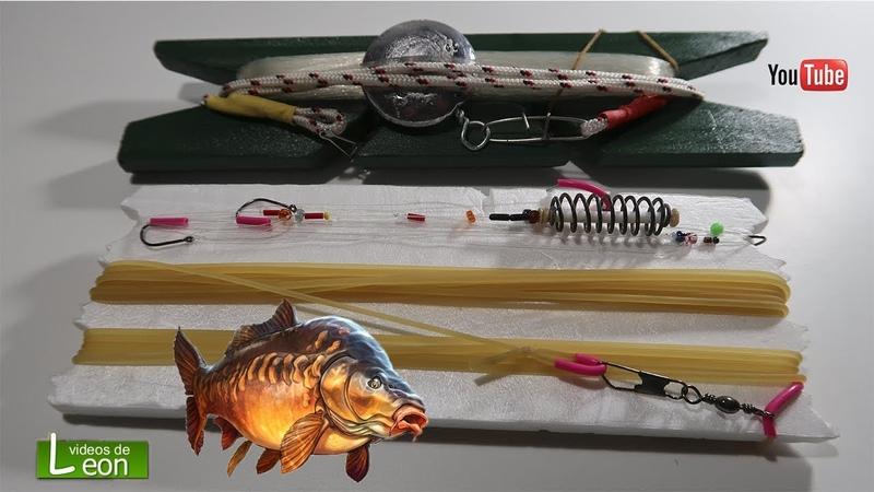 SUPER linea de pesca a mano Como PESCAR CARPAS sin cañas Leon pesca
