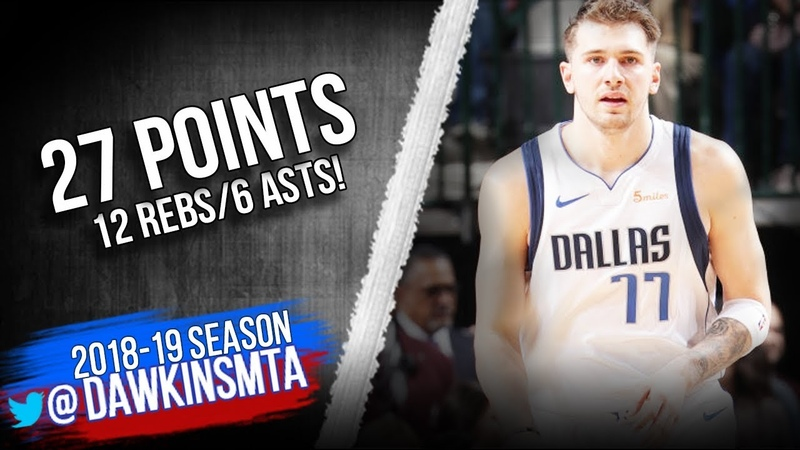 Luka Doncic Full Highlights 2019 04 03 Mavs vs TWolves 27 Pts 12 Rebs 6 Asts FreeDawkins