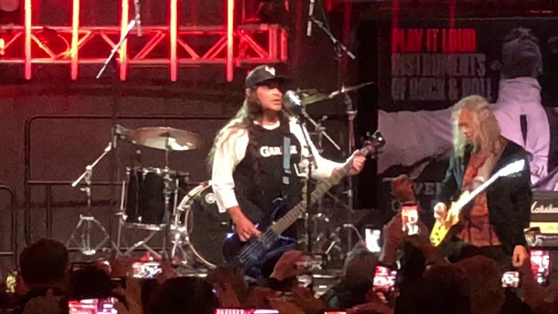 Hammett and Trujillo of METALLICA open Rock HOF EXHIBIT