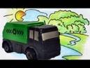 Мусоровоз, Экскаватор, Трактор - Детское видео про полезные машинки помощники.