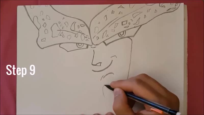 ✍ How To Draw 7 🌟 Perfect Cell   Easy 💫 Dragon Ball Z