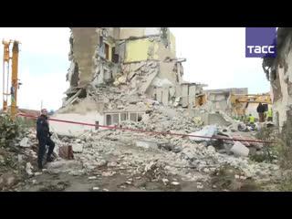 Мощное землетрясение в албании