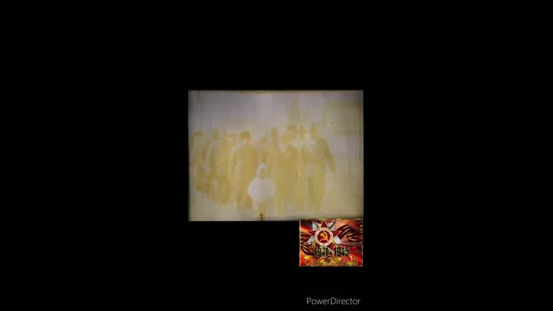 Парад Победы в селе 1 Жемкон в конце 80 x или в начале 90 x годов XX века Из семейного киноархива Кириллина Р Д