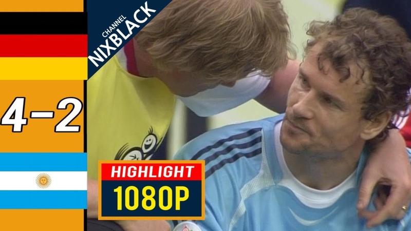 Germany 4-2 Argentina 2006 FWC Quarter Finals All goals Highlights FHD1080P