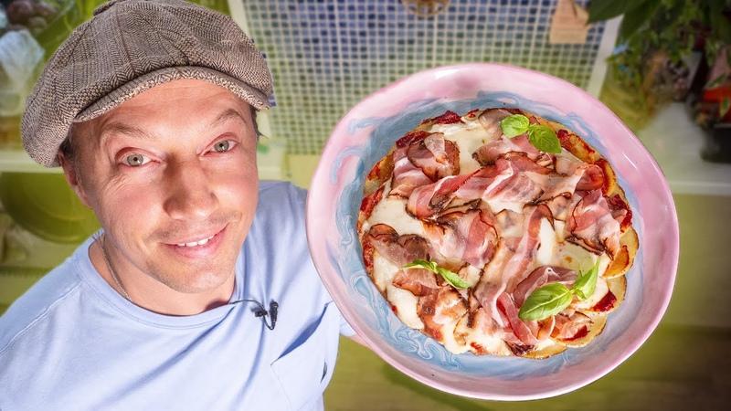 Пицца на сковороде. Прикольный рецепт от моих друзей из Канады. Bismark potato pizza.