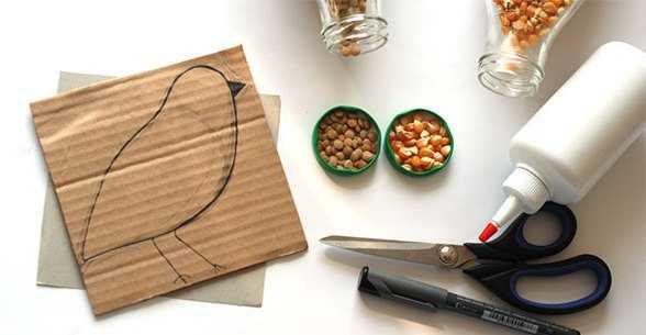 Предлагаю вам интересные идеи из материала - , семена - для понадобится картон или плотная любая по цвету и фактуре, , Аппликация -