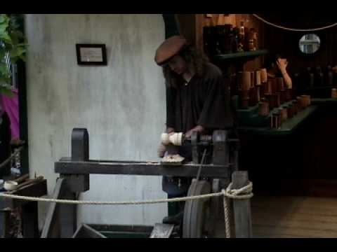 Treadle Lathe at the Maryland Renaissance Festival with Goodly Woods