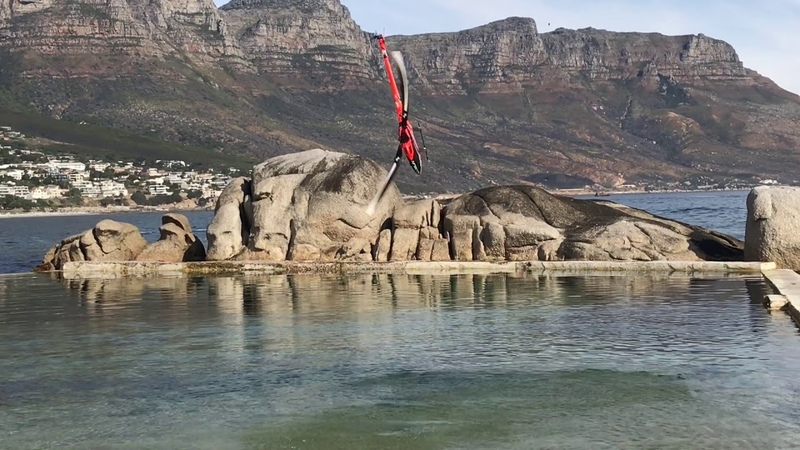 Tareq Alsaadi Goblin Kraken on the water !! rc heli on the water South Africa