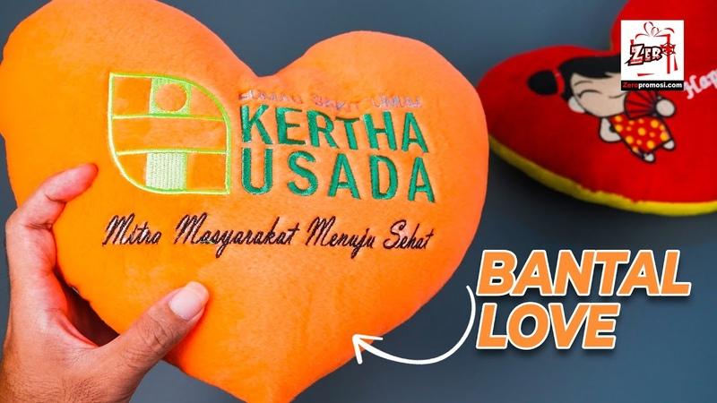 Souvenir Bantal Love - Bantal Hati Promosi review by zeropromosi.com