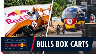 Max Verstappen and Alex Albon's Red Bull Box Cart Designs Hit The Streets of Tokyo!