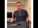 Arnold Schwarzenegger has a big knife!