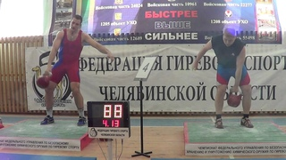 Record in snatch 32 kg kettlebell Ivan Denisov right hand 201 reps in 10 min.