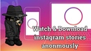 Watch Download Instagram Stories Anonymously On PC Laptop Without Them Knowing